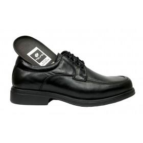 Tolino A7991 Negro, zapato blucher de hombre, Ancho 12, cordones, forro de piel y piso de poliuretano muy ligero