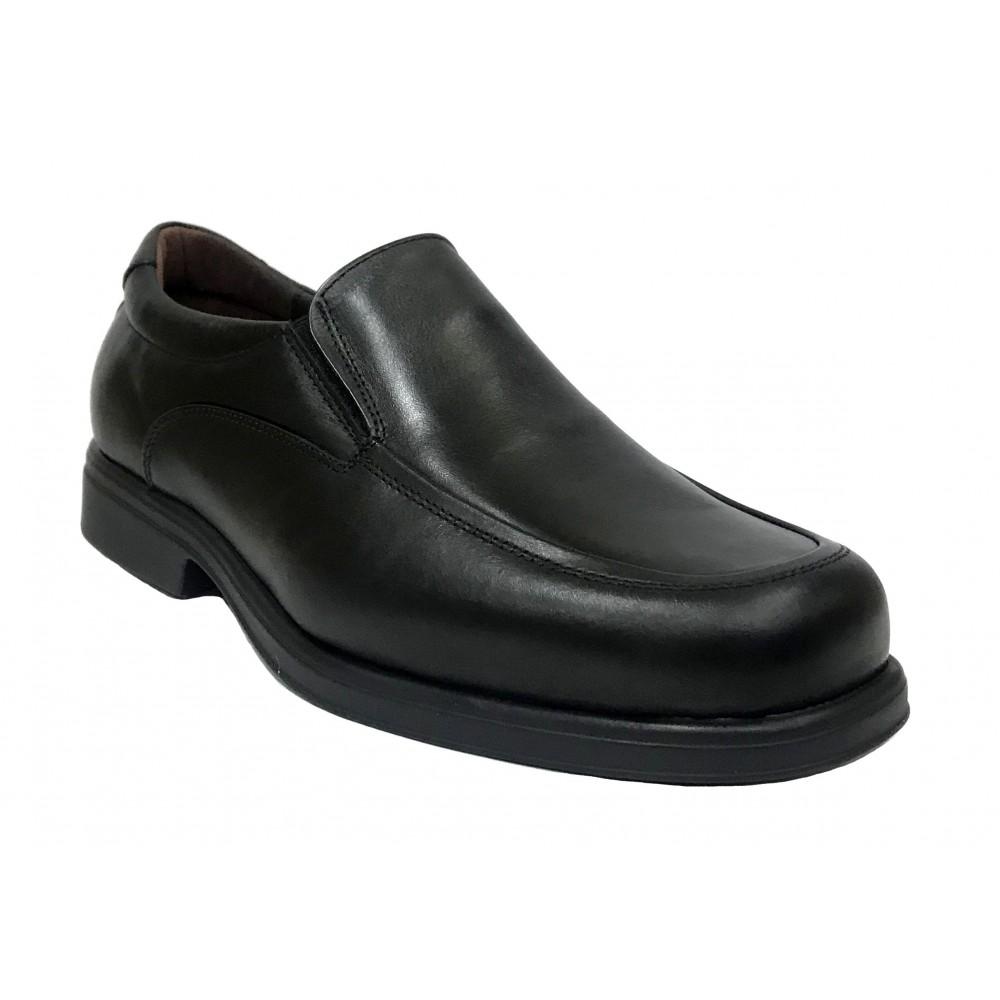 Tolino A7992 Negro, zapato de hombre, Ancho 12, piel vacuno, forro de piel, piso de poliuretano muy ligero y plantilla