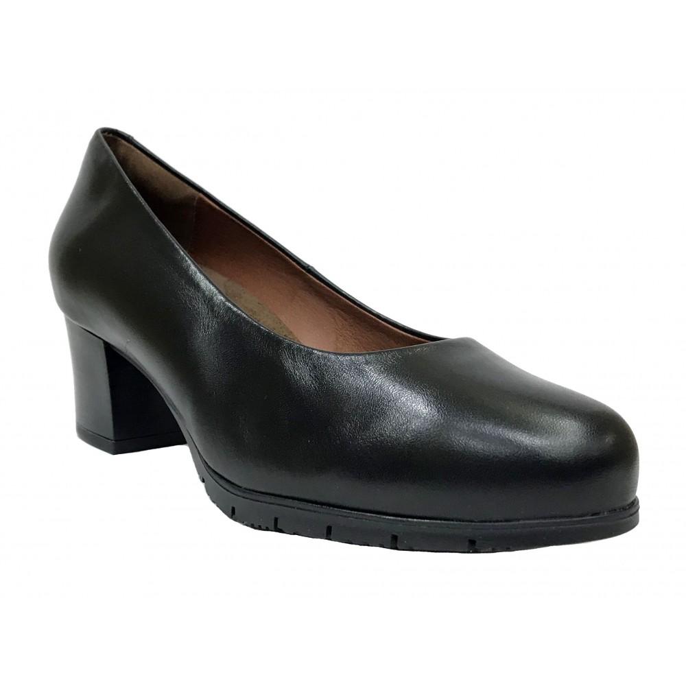 Desireé 01 92020 Diana Negro, Zapato con tacón de 6 cm, plataforma, antideslizante, piel, plantilla extraíble y almohadilla