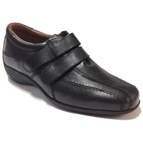 Fleximax 07 121 Zapato Mujer Negro Velcros
