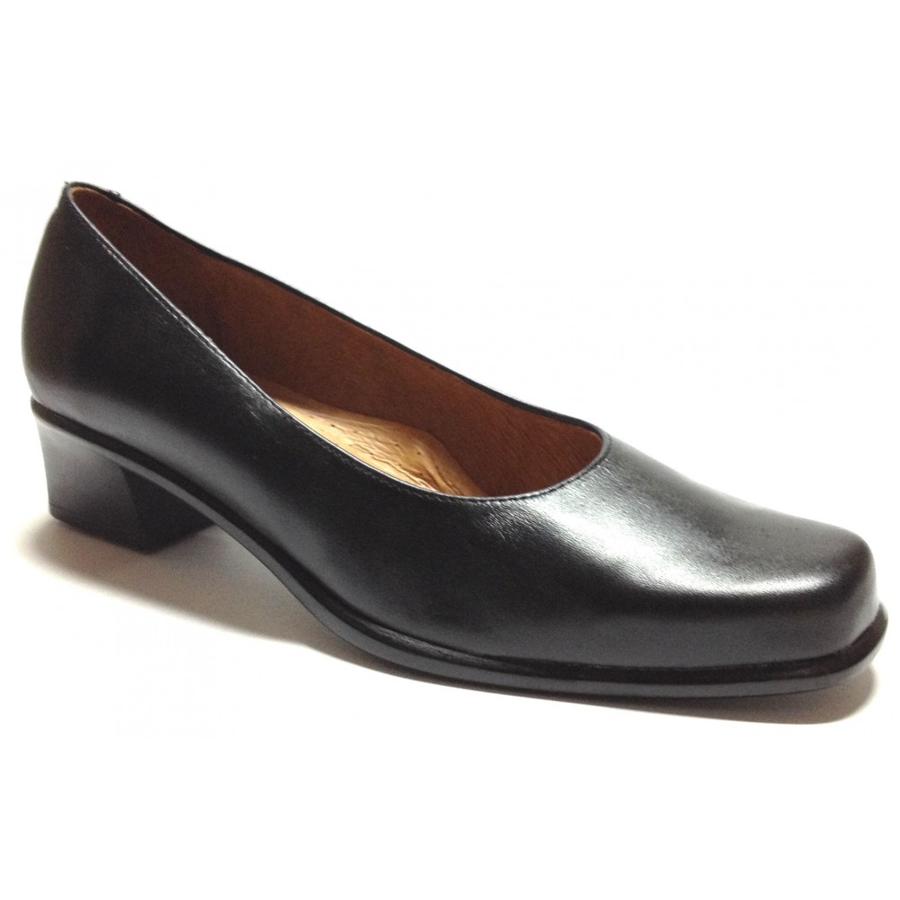 Fleximax 04 47 zapato salón mujer, piel napa, con tacón 4 cm, forro piel