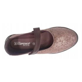 Arcopedico 4043 L45 E91 Pink, Zapato de Mujer, rosa, Lytech, velcro, doble arco, piso ligero y plantilla extraíble