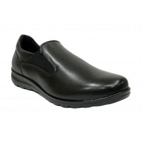 Baerchi 15 52001 Skimo Negro, mocasín de mujer, elásticos, piso de goma antideslizante y plantilla extraíble