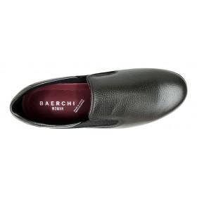 Baerchi 16 52001 Perla Antracita, mocasín de mujer, elásticos, piso de goma antideslizante y plantilla extraíble