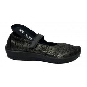 Arcopedico 4043 L45 E05 Negro, zapato de mujer, lytech, doble arco, cierre con velcro y plantilla extraíble