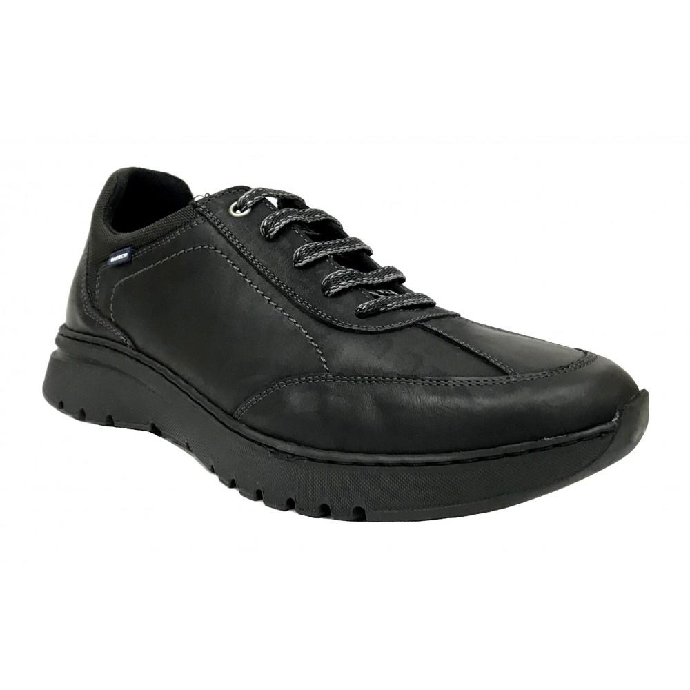 Baerchi 5248 Negro, zapato deportivo de hombre, suela flexible de goma, plantilla extraíble y cierre con cordones