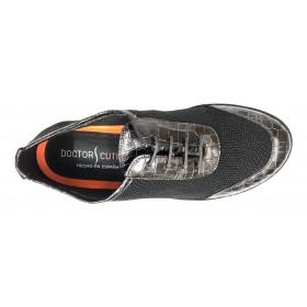 Doctor Cutillas 28 50725 Negro, deportivo mujer, Horma ancha, cordones, piso ligero y plantilla extraíble