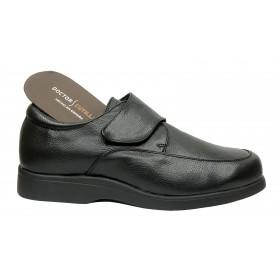 Doctor Cutillas 73113 Negro, zapato hombre, Horma ancha, velcro, piso antideslizante y plantilla extraíble