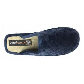 Doctor Cutillas 24071 Marino, Zapatilla chinela de casa para Mujer, piso ligero microporoso