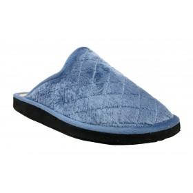 Doctor Cutillas 24071 Aguamar, Zapatilla chinela de casa para Mujer, piso ligero microporoso y grabado de rombos