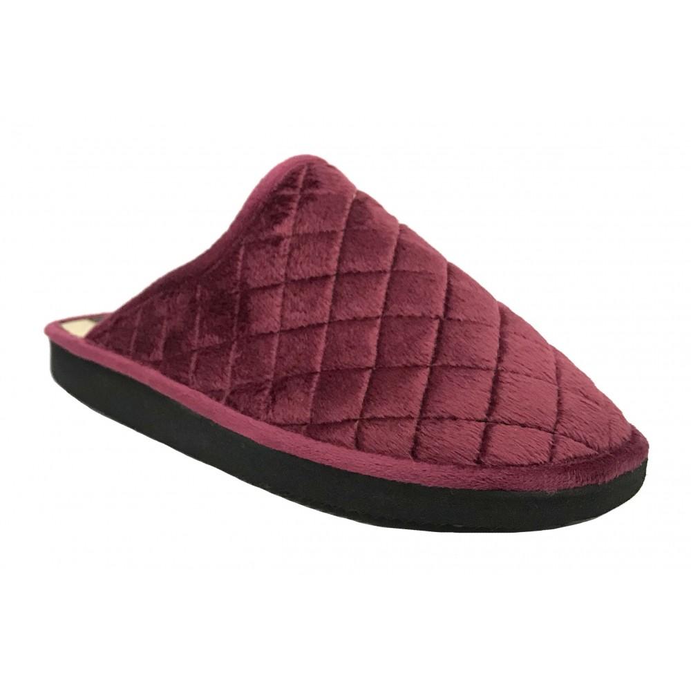 Doctor Cutillas 24071 Burdeos, Zapatilla chinela de casa para Mujer, piso ligero microporoso y grabado de rombos