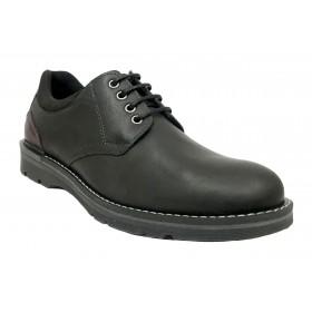 Baerchi 5060 Colorado Negro, zapato de hombre, suela flexible de goma, plantilla extraíble y cierre con cordones