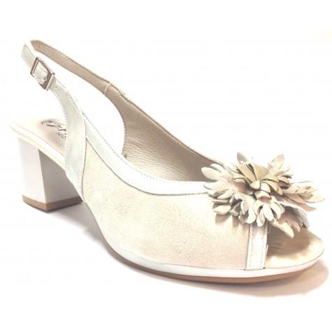 Pitillos 04 1350 sandalia de mujer hielo tacón flor