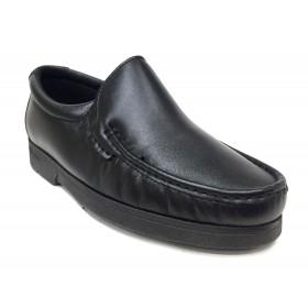 Pinoso's  4746 Kiowa negro ancho 10, forro textil, piso de goma cosido, piel napa cordero, microtech