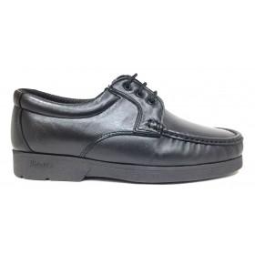 Pinoso's  4783 Kiowa negro ancho 10, forro textil, piso de goma cosido, con cordones, piel napa cordero, piso microtech