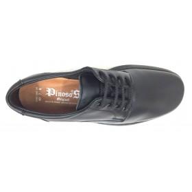 Pinoso's  5975 negro, piel napa, ancho 12, forro en piel, piso de poliuretano pegado, cierre cordones