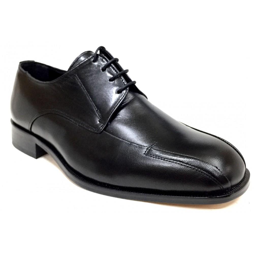 Tolino  A8206 negro, piel cabra, ancho 11, cosido a mano, piso de suela de cuero, forro piel, cordones