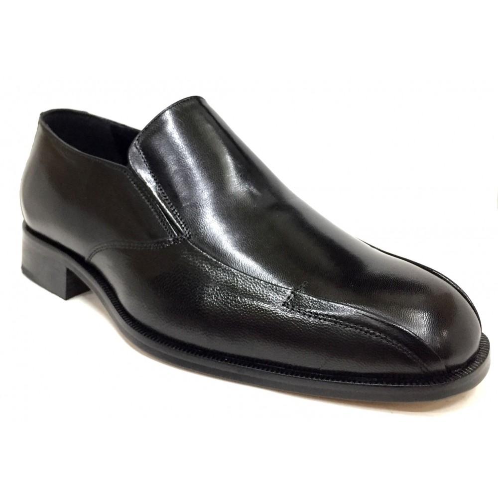 Tolino  A8207 negro, piel cabra, ancho 11, cosido a mano, piso de suela de cuero, forro piel