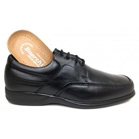 Baerchi 1930 piel negro plantilla extraíble piso goma ultraligero y cierre con cordones