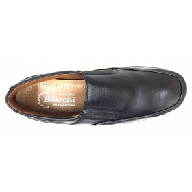 Baerchi 1931 zapato hombre  piel negro plantilla extraíble piso goma ultraligero