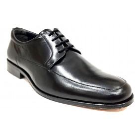 Baerchi 4681 ancho 10 zapato hombre  piel negro forro piel con cordones y suela de cuero