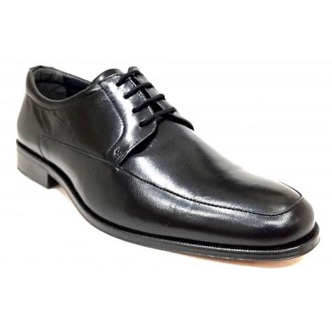 Baerchi 4681 Negro Zapato de Hombre Suela de Cuero
