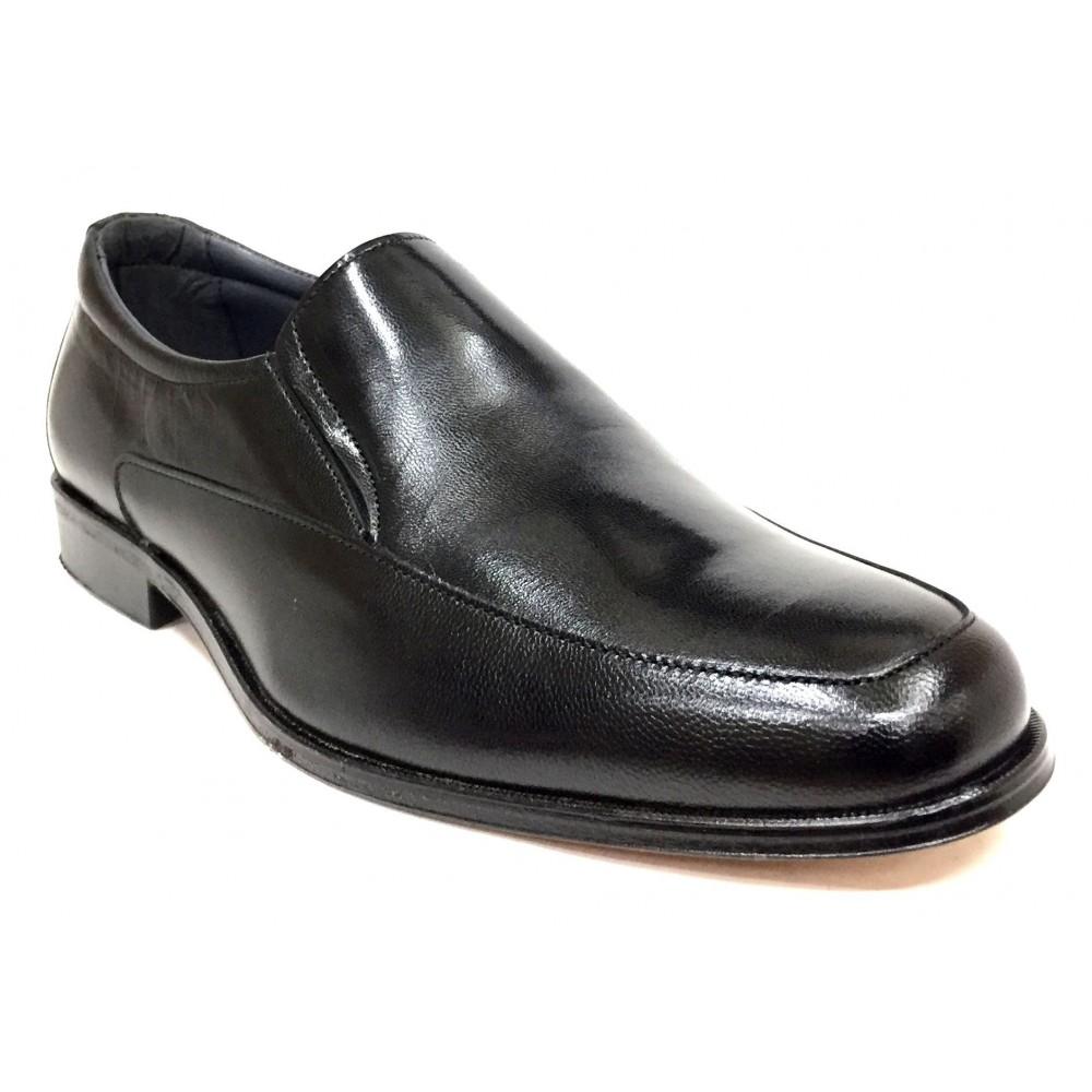 Baerchi 4682 ancho 10 zapato hombre  piel negro forro piel con suela de cuero