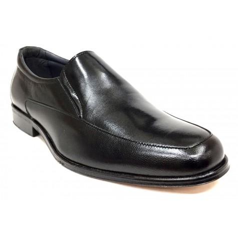 Baerchi 4682 Negro Zapato de Hombre Suela de Cuero