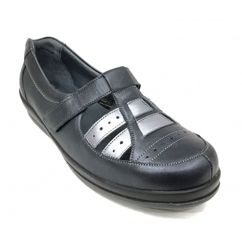 SUAVE 31 3105 Zapato Mujer Navy Steel Pie Diabético