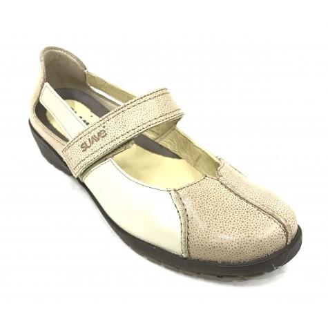 SUAVE 36D 3429 Zapato Mujer Merceditas Crema velcro