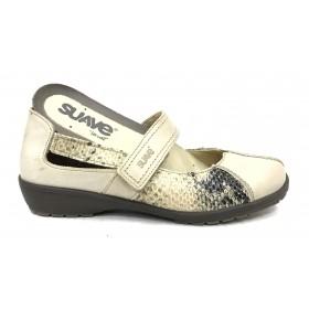 Leyland 36S 3429 Zapato mujer merceditas arena beig velcro plantilla extraíble